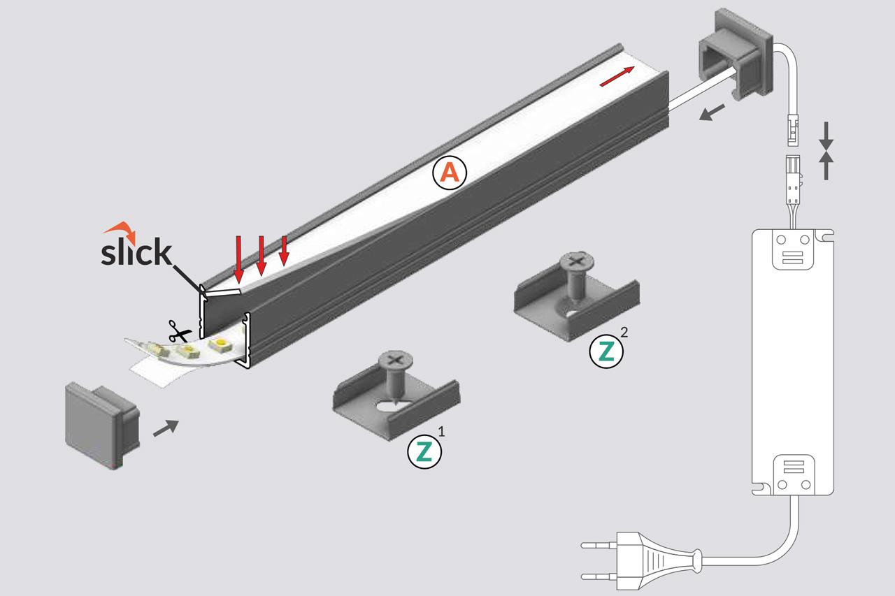 NOVA 10mm Opbouw Led Profiel 1m-2m
