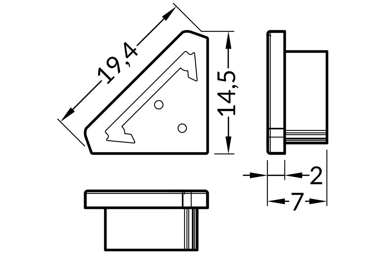 Eindkapjes TRIAD TS, Set van twee voor vlakke Cover B