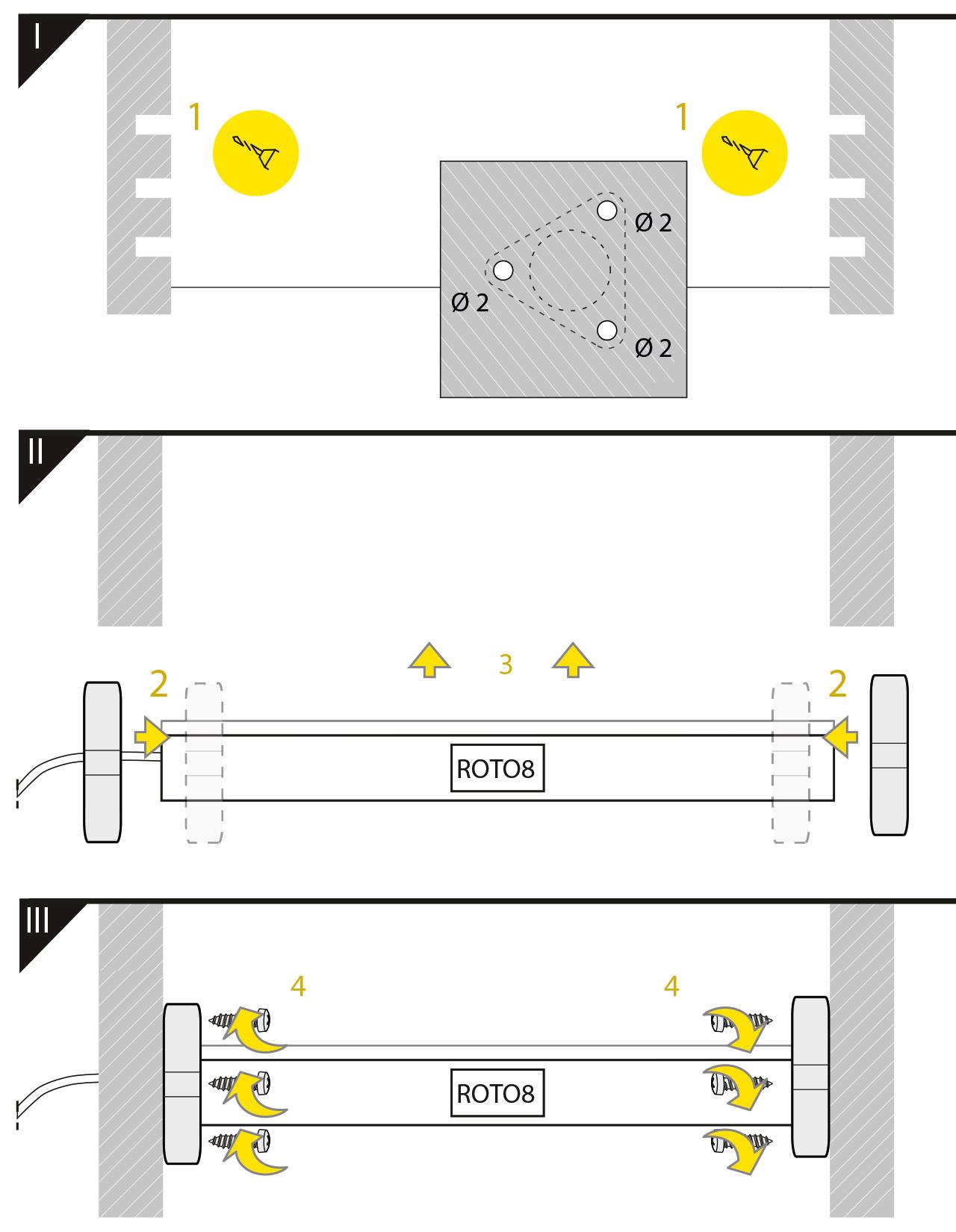 Houders ROTO8  verzinkt staal driehoek