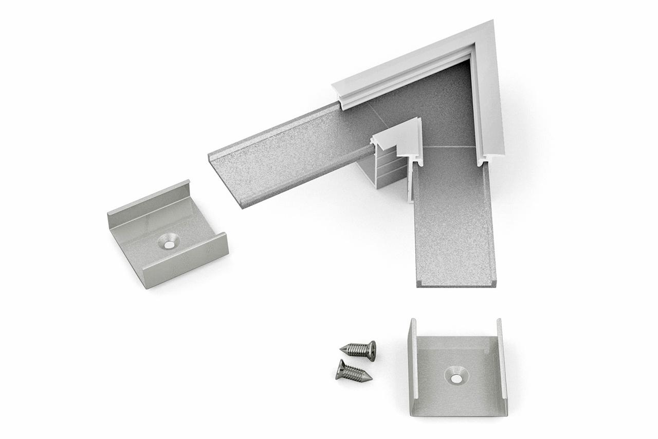 Hoek koppelstuk 60° voor NOVA20 RS LED profiel