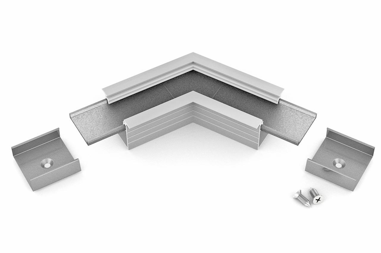 Hoek koppelstuk 120° voor NOVA20 RS LED profiel