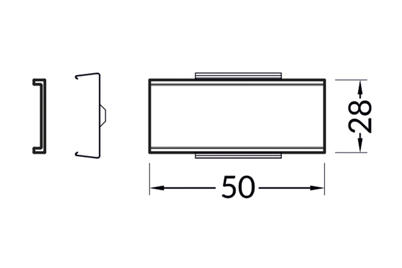 Recht koppelstuk  voor NOVA20 RS LED