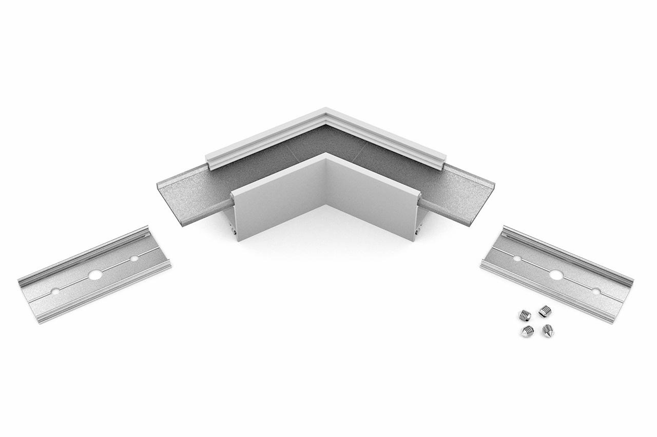 Hoek koppelstuk 120° voor NOVA20 LED profiel