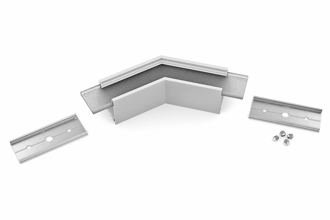 Hoek koppelstuk 135° voor NOVA20 LED profiel