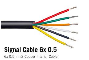 WorldUniqueen Ronde kabel 6x 0.5mm2