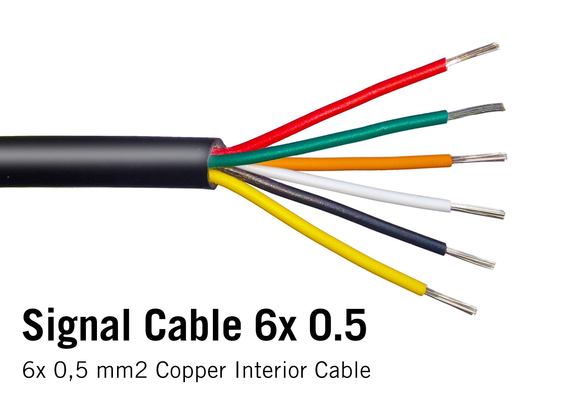 Ronde kabel 6x 0.5mm2  PVC