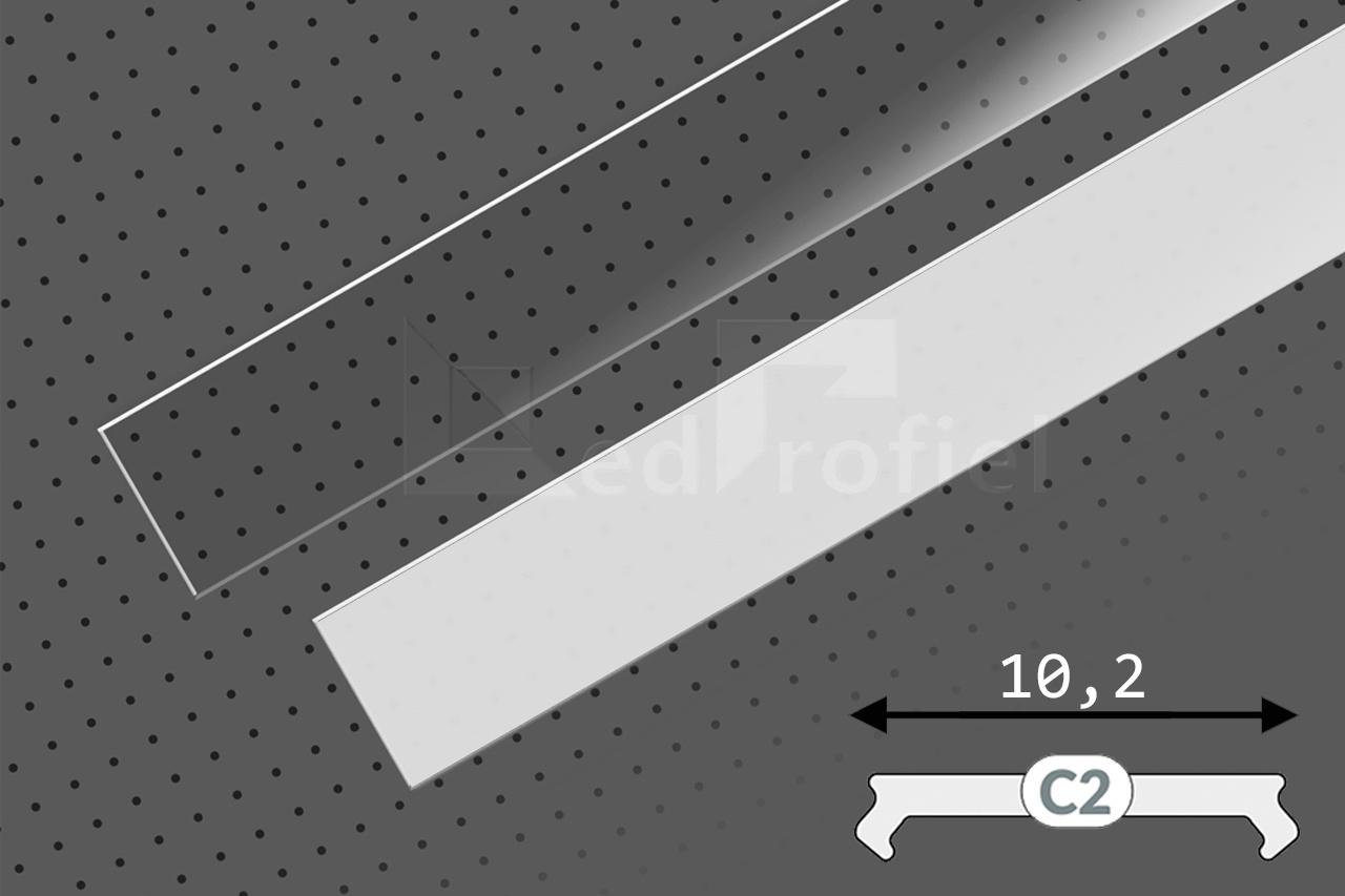 Cover C2 Clickon in 1m of 2m lengte voor profielen CONTOUR, NOVA10 en NOVA10 RS