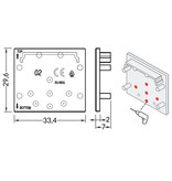 Eindkapjes voor LED profiel EVO302. Set van twee