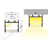 EVO302 31mm opbouw Led Profiel 1m-2m