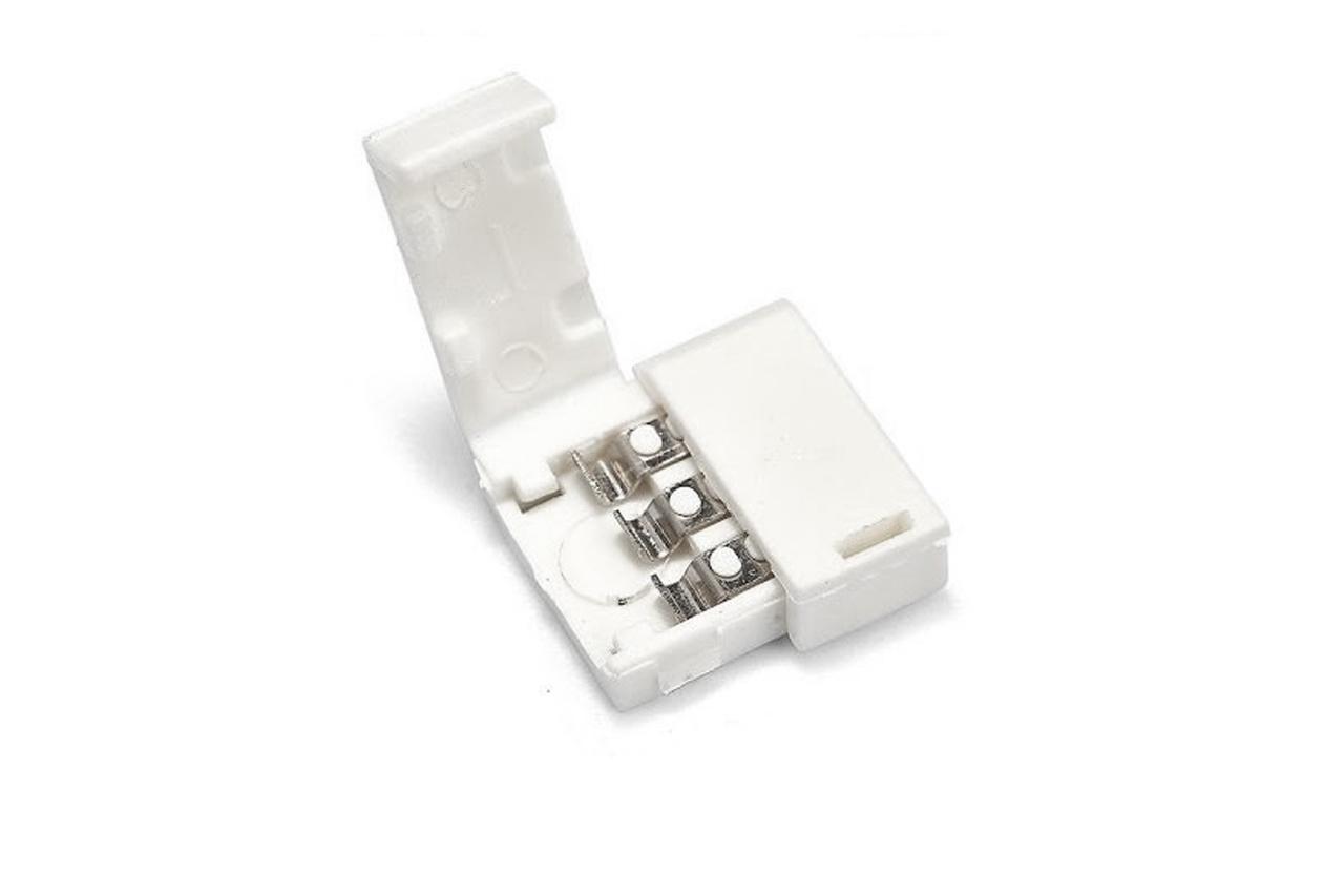 Koppel connector voor 3-polige 10mm Dual White CCT LED strips, soldeervrij.