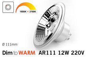 Dim2Warm AR-111 GU10 LED spot 2700K tot 1800K