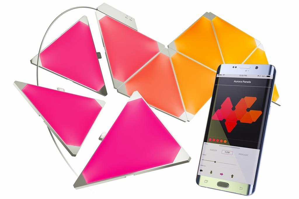 Aurora Nanoleaf Aurora Smarter kit Rhythm Edition, Starterset met 9 led panelen én muziekmodule!