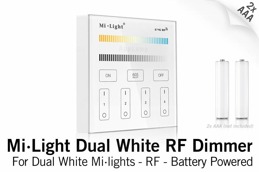 MiLight MiLight CCT CT opbouw Dual White RF Touch Dimmer, AAA batterij