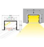 EVO307 31mm verzonken inbouw Led Profiel 1m-2m