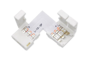 L-Connector voor 3-polige 10mm Dual White CCT LED strips, soldeervrij