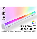 MiLight Miboxer Linear Light  RGB+Dual White Lichtbalk - IP66 - 18Watt - 220Volt - 100CM