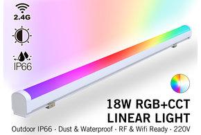 MiLight Waterdichte RGB+Dual Wit Lichtbalk | 18W  230V 100CM