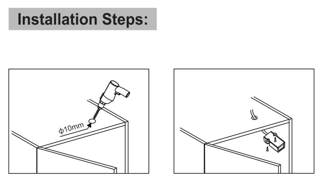 Aan/Uit kastdeur IR sensor voor (LED) verlichting | 12V-24V | 4A