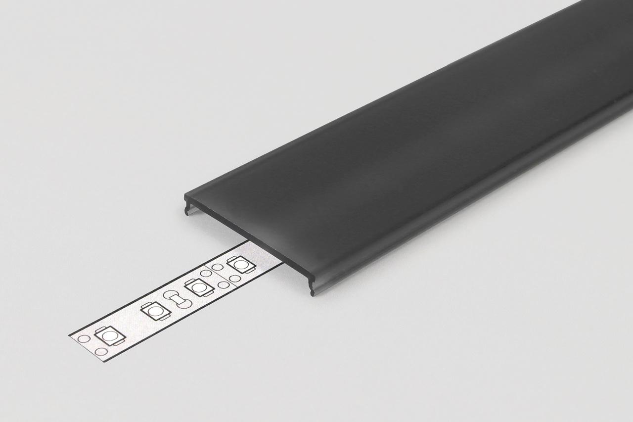 Cover C9 Clickon Zwart in 1m of 2m lengte