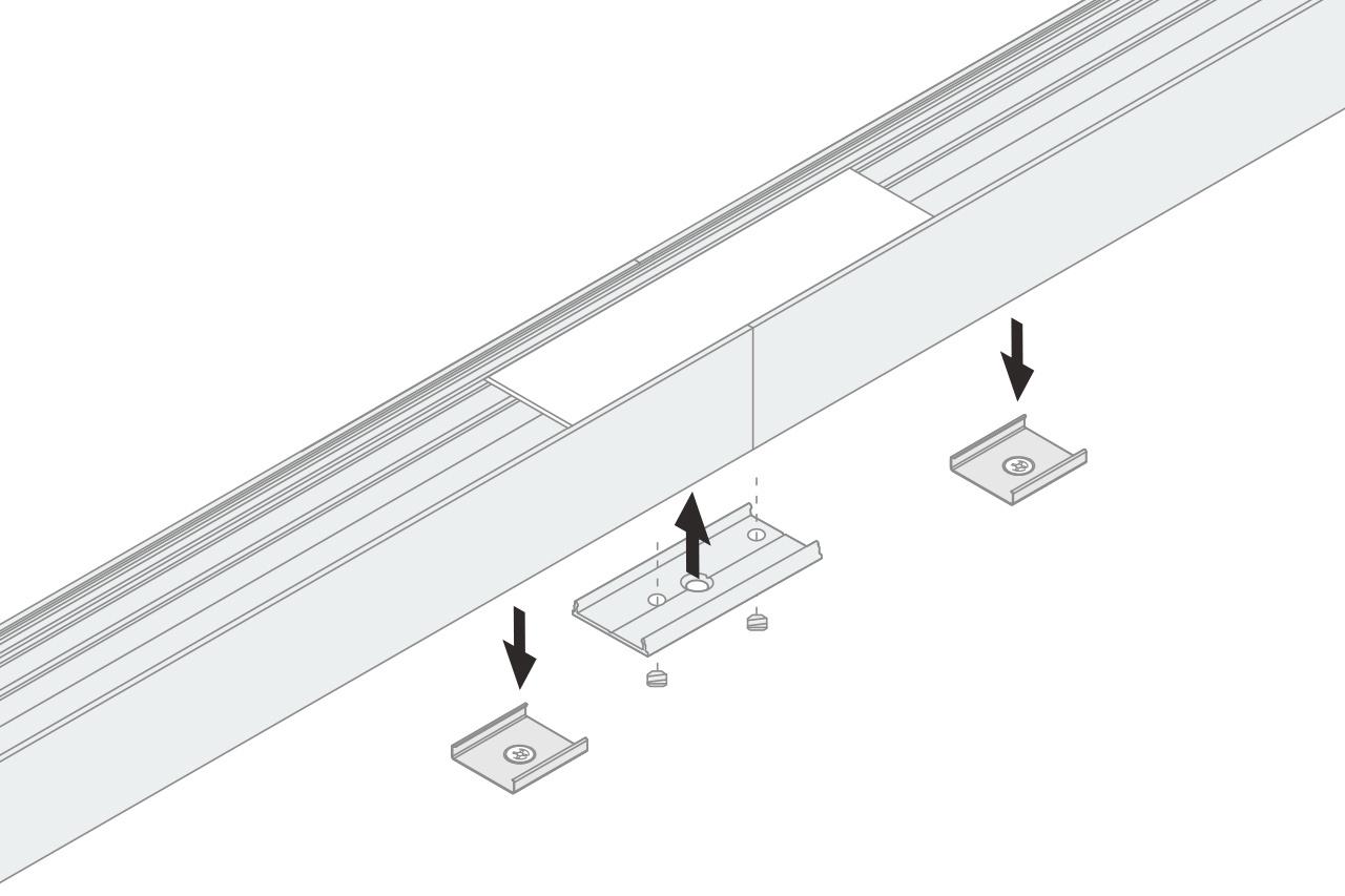Recht Koppelstuk 180° voor EVO302-303 LED profielen