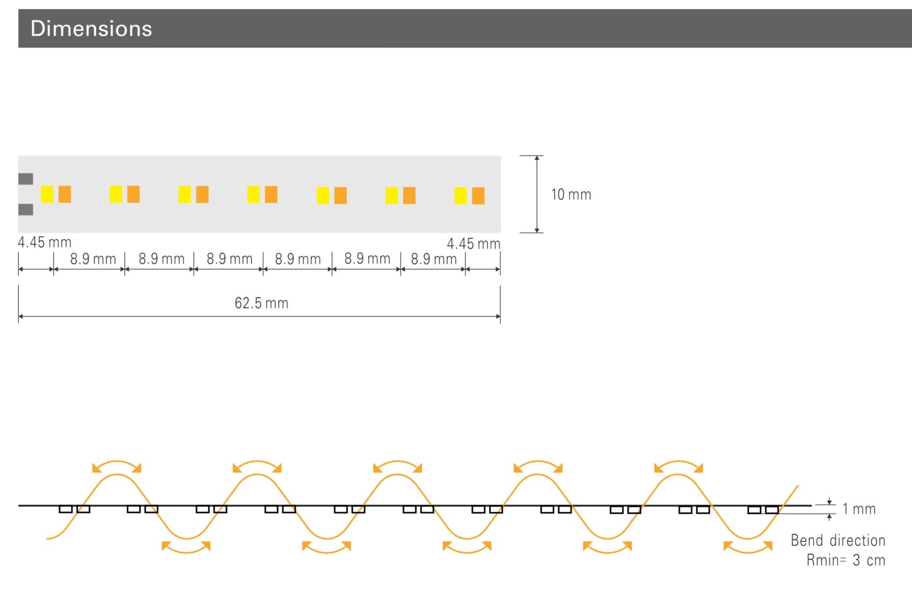 AppLamp Pro Line Dim To Warm Led Strip 2200K~3200K | 5m 15W pm  24V | 224 LED pm - Losse Strip