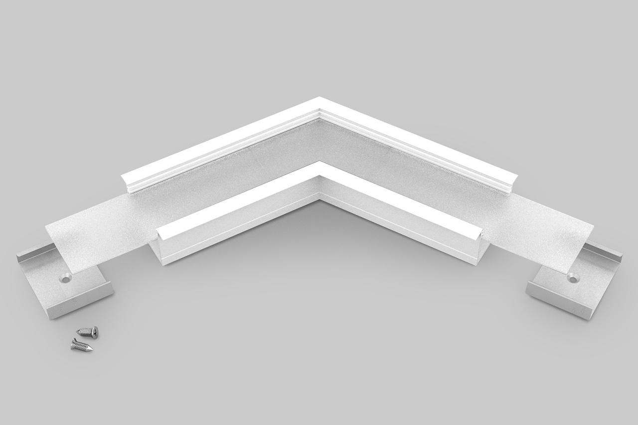 Hoek koppelstuk 120° voor EVO307 LED profiel