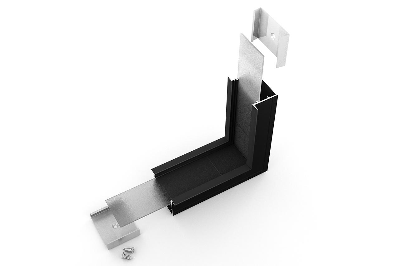 Hoek koppelstuk 90° binnenhoek voor EVO307 LED profiel