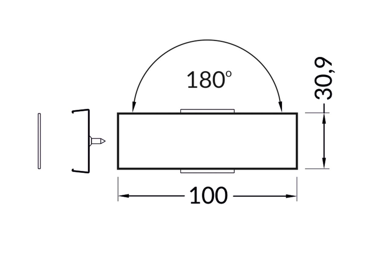 Recht Koppelstuk 180° voor EVO307 LED profiel