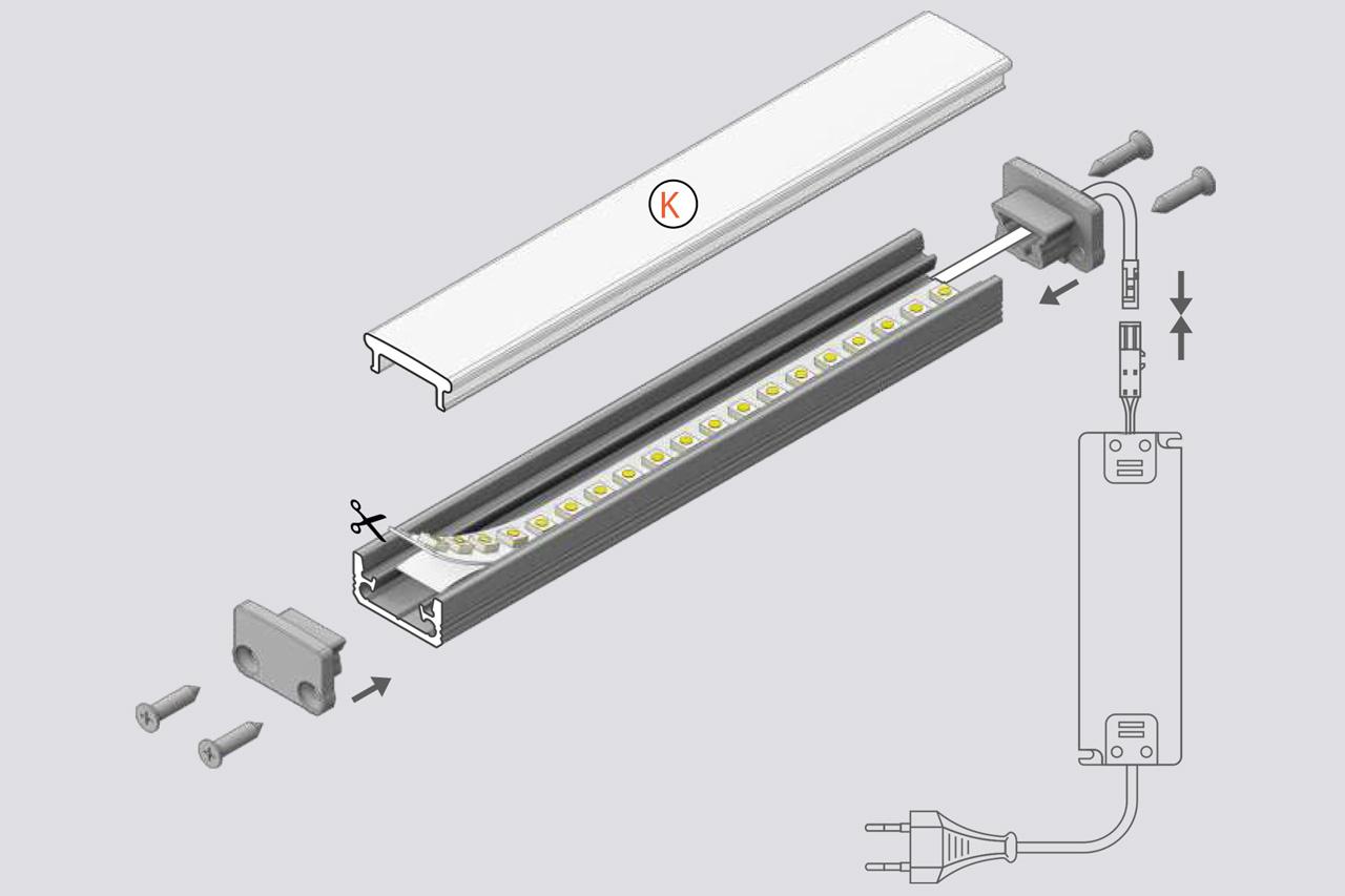 STEPON 8mm Vloer / Floor LedProfiel 1m-2m