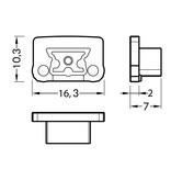 Eindkapjes voor LEDprofiel STEPON8 Set van twee, met of zonder kabelgat