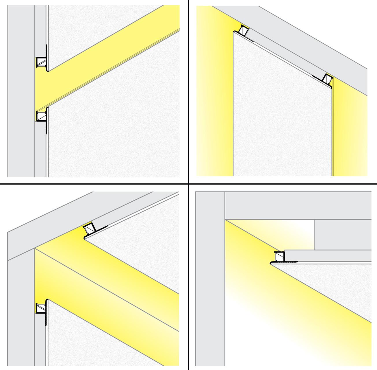 Flux TS 10mm verzonken Led Profiel voor gipsplaat en stucwerk