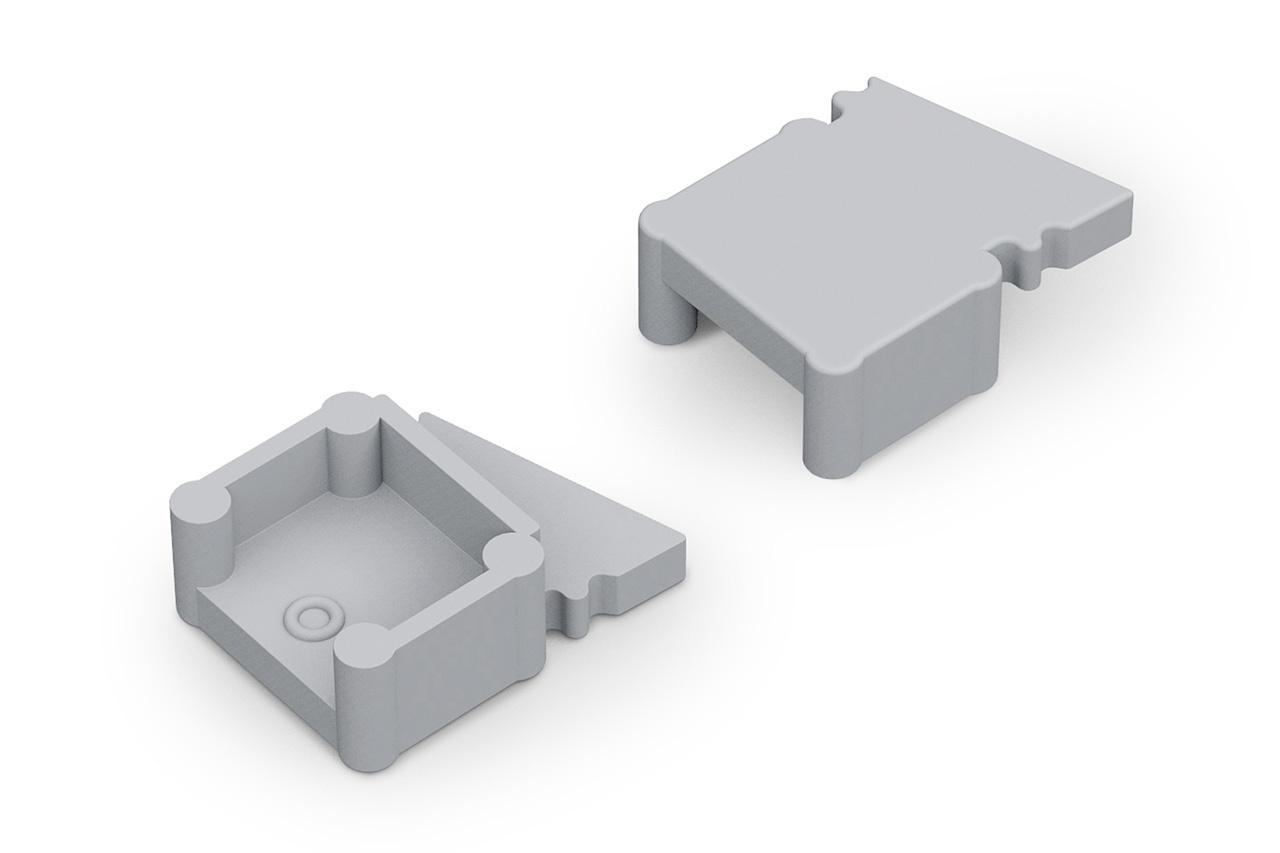 Eindkapjes FLUX10 TS , Set van twee stuks