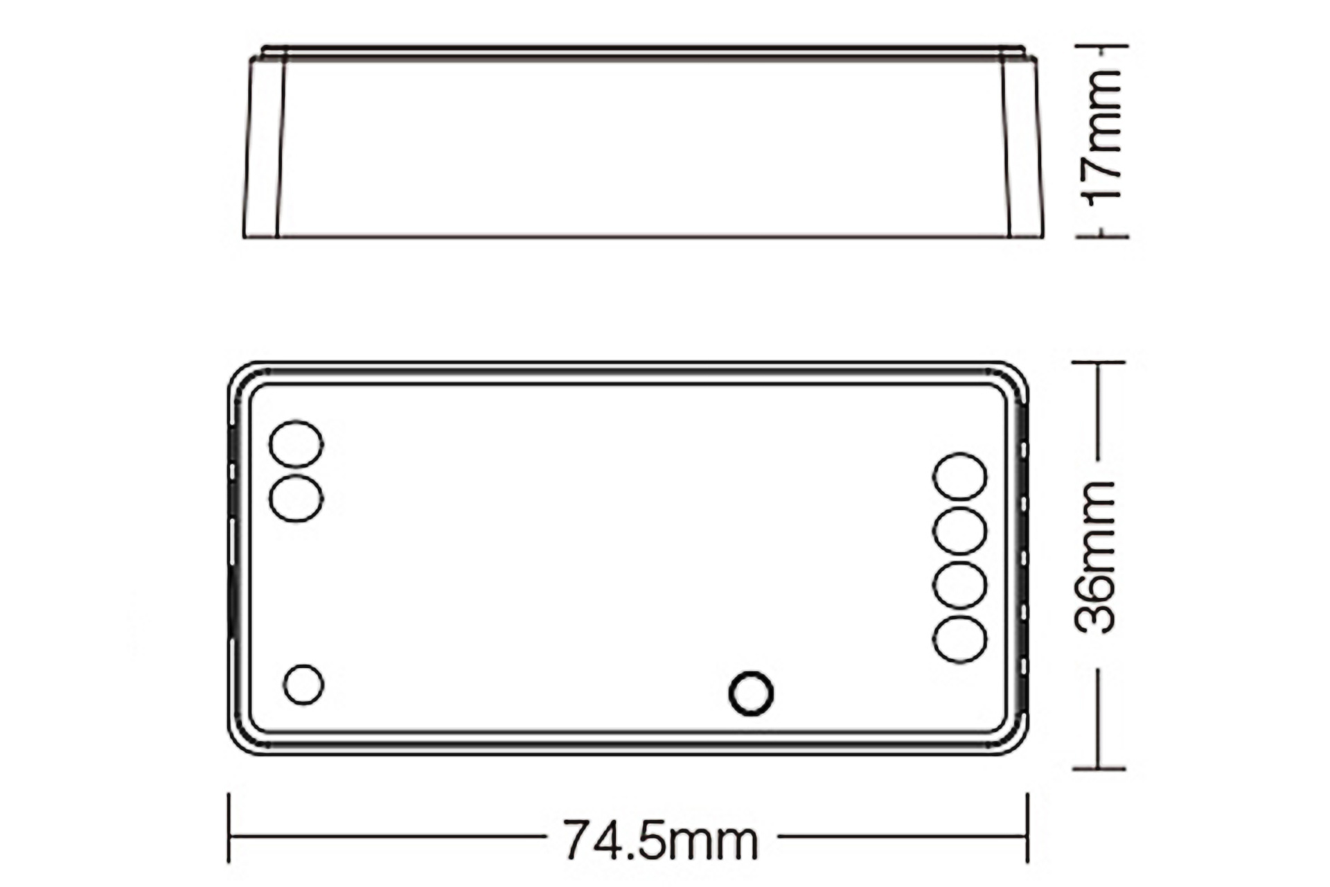 MiLight Miboxer enkelkleurige Zigbee 3.0 Dimmer Controller
