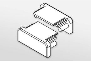 Eindkapjes FLUID, Set van twee, met of zonder kabelgat