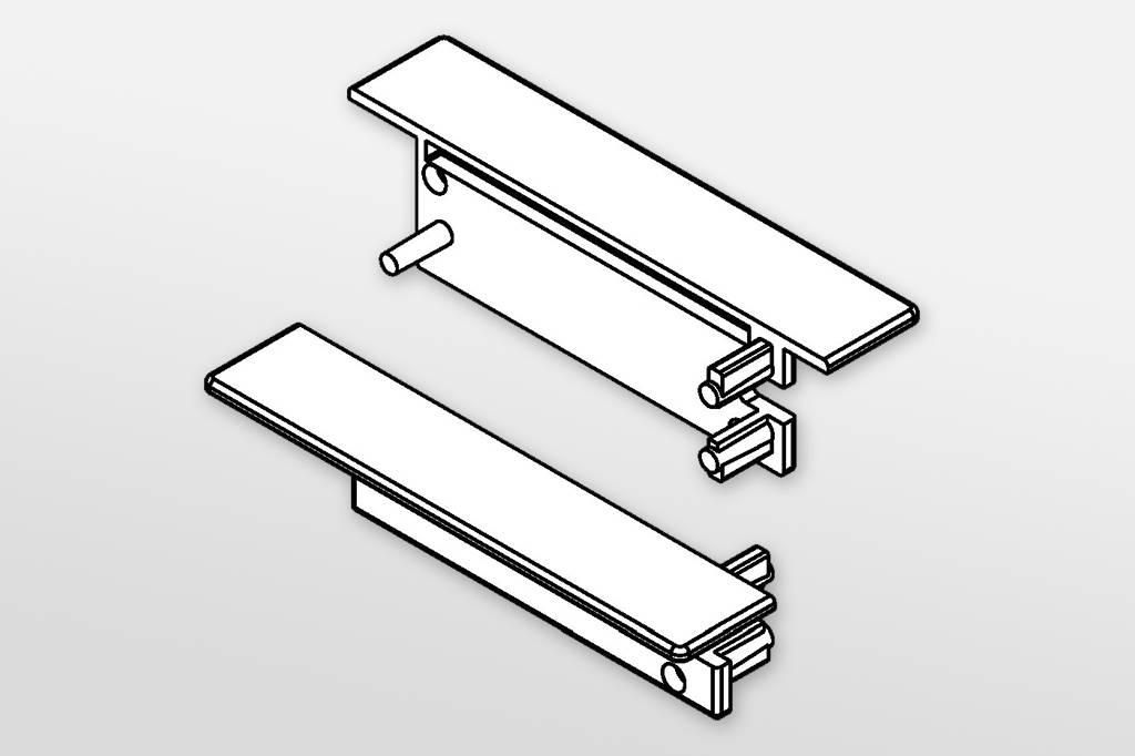 Eindkapjes voor LED profiel SMOOTH Set van twee, met of zonder kabelgat