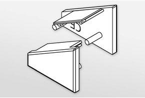Eindkapjes ANGLE, Set van twee, met of zonder kabelgat