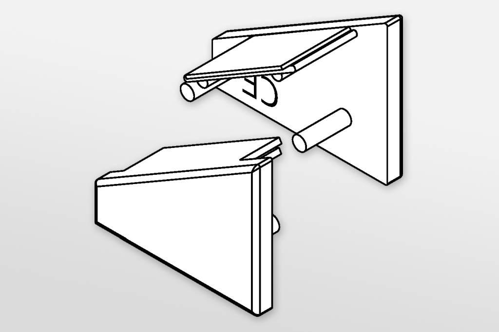 Eindkapjes voor LED profiel ANGLE Set van twee, met of zonder kabelgat