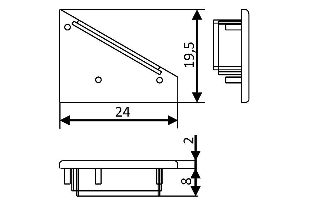 Eindkapjes voor LED profiel ANGLE14 Set van twee, met of zonder kabelgat