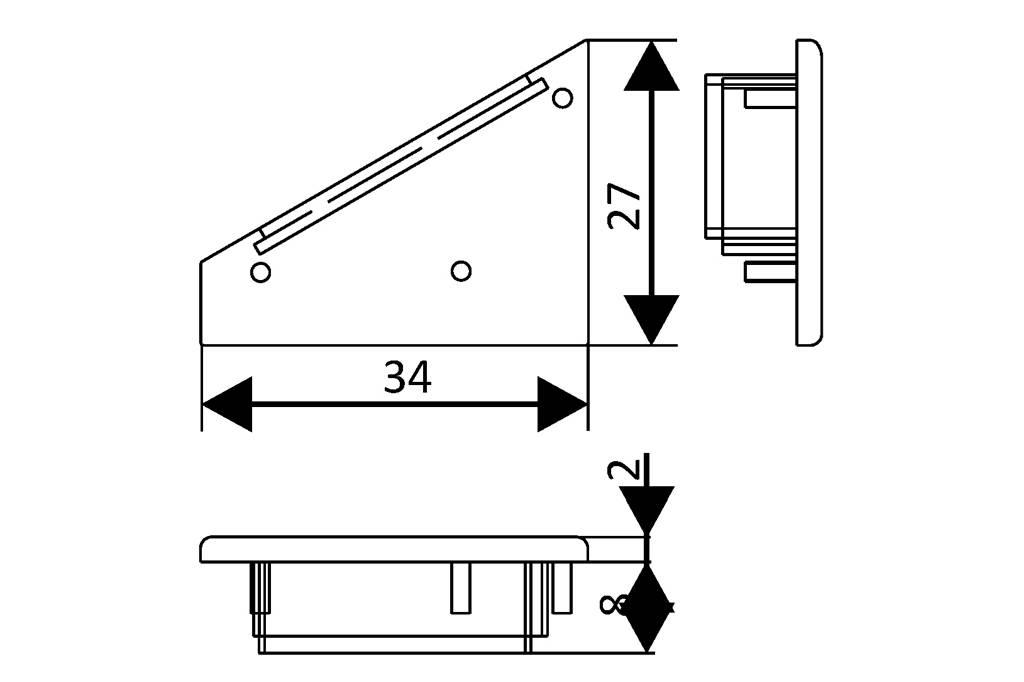 Eindkapjes voor LED profiel ANGLE27 Set van twee, met of zonder kabelgat