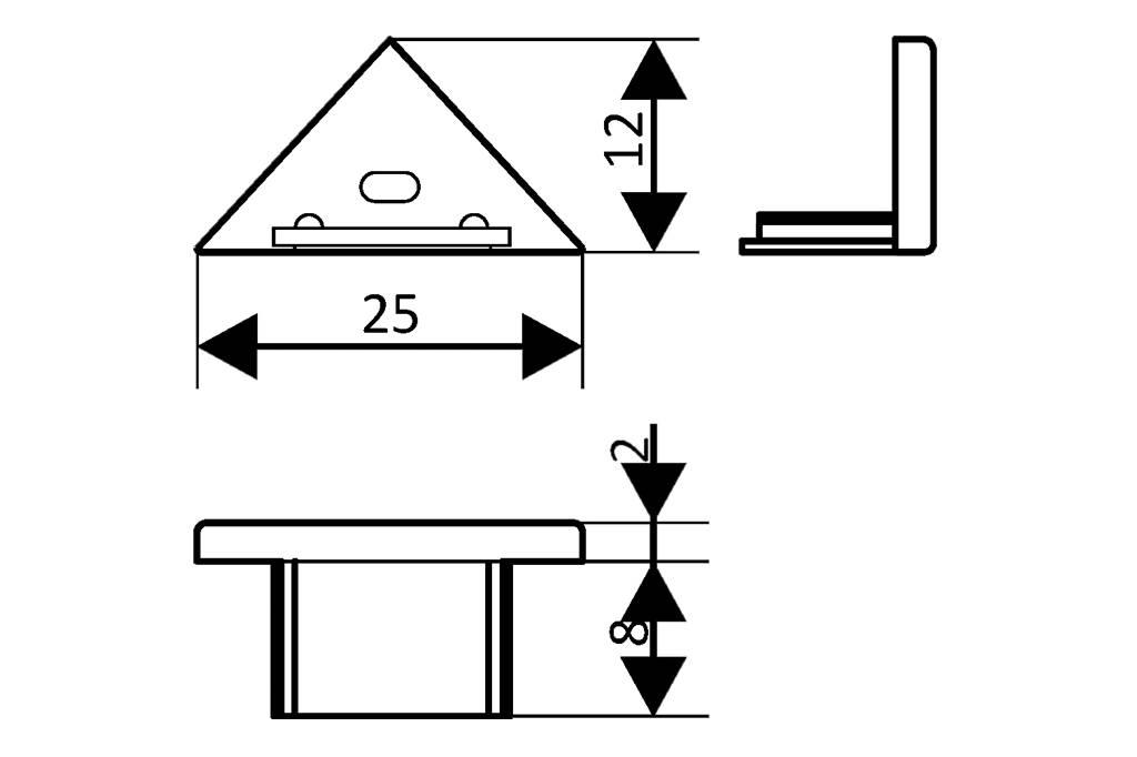 Eindkapjes voor LED profiel TRIAD Set van twee, met of zonder kabelgat