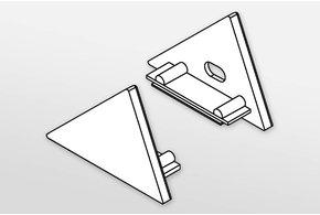 Eindkapjes TRIAD, Set van twee, met of zonder kabelgat