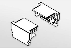 Eindkapjes OMNI, Set van twee, met of zonder kabelgat