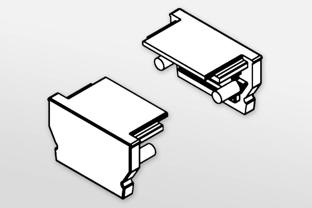 Eindkapjes voor LED profiel OMNI Set van twee, met of zonder kabelgat