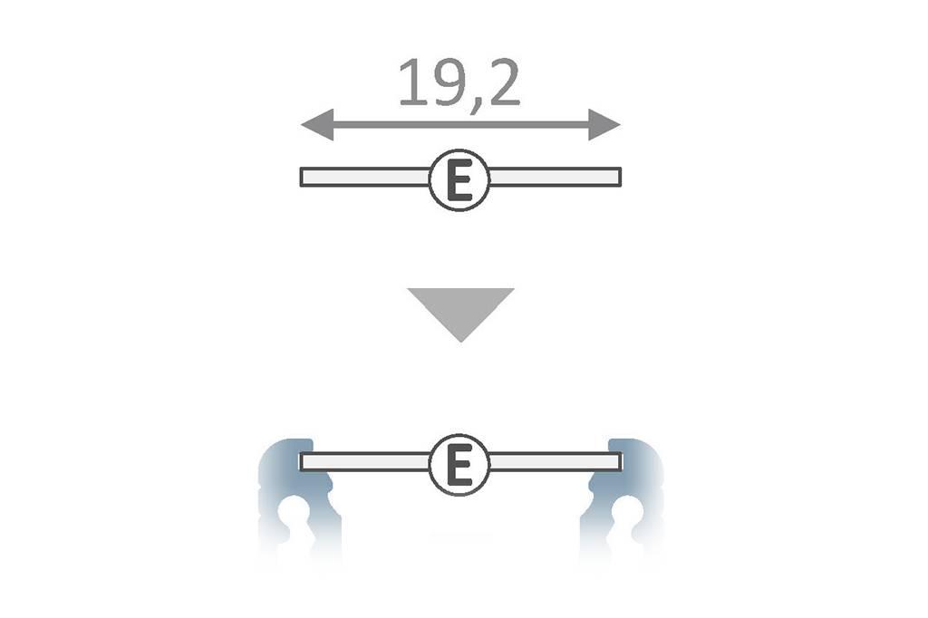 Cover E Slide in 1m of 2m lengte