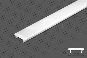 Cover TYPE `K` ClickOn voor STEPON LED Profiel 1m of 2m lengte