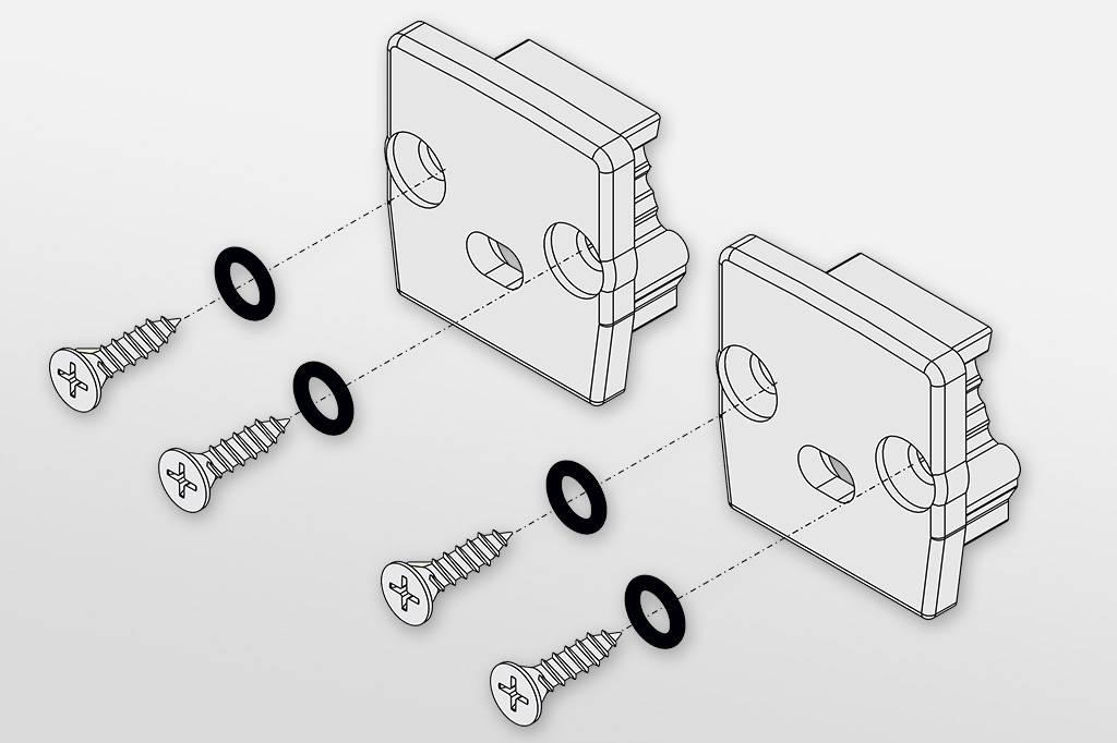 Eindkapjes voor LEDprofiel STEPON12 Set van twee, met of zonder kabelgat
