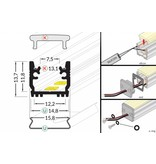 STEPON 12mm Vloer / Floor LedProfiel 1m-2m