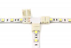 Witte LED strip T-connector, soldeervrij