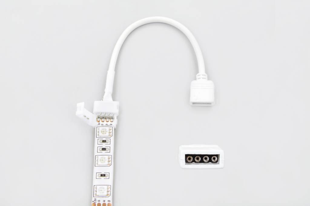 RGB LED strip soldeervrije connector met 4-pin stekker