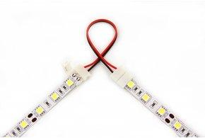 Flexibele connector voor witte LED strips, soldeervrij. Voor 5050 of 3528 ledstrips